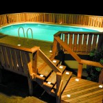 Beautiful Basic Wooden Pool Deck