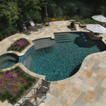 Copper Bay Pattern Flagstone Pool Deck