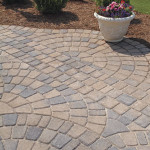 Example of a paver patio with a fan design in VA
