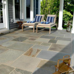 Variegated Bluestone Pattern Flagstone Terrace
