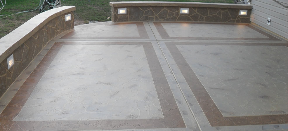 Example of a Stamped Concrete Patio
