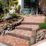 Captivating Brick and Stone steps into Walkway