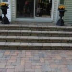 Variegated Brick Steps to Back Door