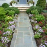 Elegant Flower Laced Front Porch Walkway