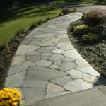 Stunning Stone Work Leading to Driveway