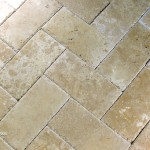 Up close of travertine
