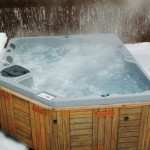 Hot water steaming in a virginia based spa jacuzzi by Stone Patios VA