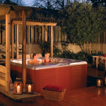Have a romantic evening in your jacuzzi during the spring