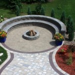 Circular Garden Sitting Wall Example Northern VA